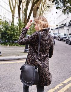 Sally Leopard Coat