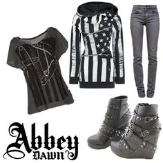 """avril lavigne inspired outfit"" by ladyluvlett on Polyvore"