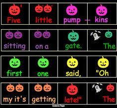 I finally finished working on my SMART Board pages for Five Little Pumpkins! The first page is just a simple page for singing the song. Ta...