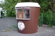 Coffee kiosk, We produce stalls in the form of a cup of coffee, (mini coffee shop) Киоск в форме стаканчика кофе