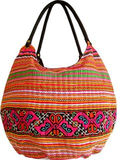 shoulder bag | love the fabric and embroidery and handles