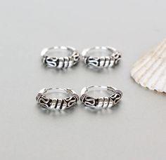68d26ac7ab328a Pair Of 12mm Bali Silver Hoops Hoop Earrings Bali Hoops Silver Toe Rings,  Silver Prices