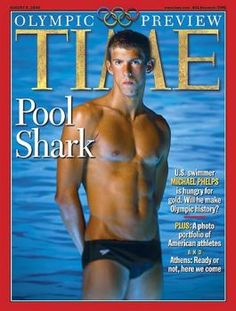 Michael Phelps Time Magazine-This cover is from an August 2004 -TIME MAGAZINE...,he had the name back then, still has it today !!!! I look for a 2012 Cover shot coming out on Michael really soon with all his accomplishments from yesterday !