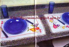 Ponto Cruz nas Toalhinhas de Mesa - http://ftpormim.blogspot.com.br