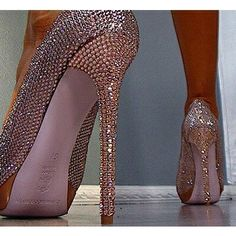 again pink sparkly shoes yes I want these Shoes |2013 Fashion High Heels|