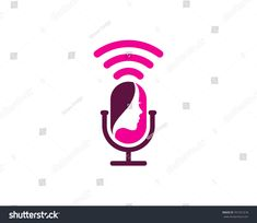 Beauty Podcast Icon Logo Design Element