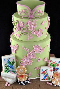 Get Chinese Food Dessert Dish Elegant Cake Design, Elegant Cakes, Chinese Cake, Chinese Food, Chinese Style, Pretty Cakes, Cute Cakes, Fondant Cakes, Cupcake Cakes