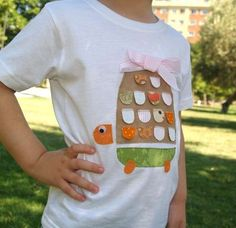 Camisetas de patchwork: Fotos de los modelos más originales - Modelo de camiseta de patchwork infantil
