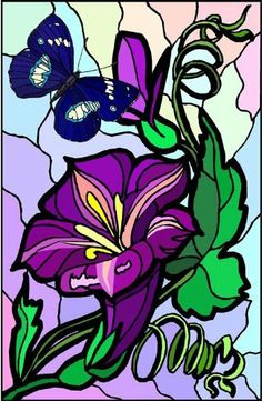 Purple Stargazer Lily Flower with Blue Butterfly-Vinyl Stained Glass Film, Static Cling Window Decal by Window Art in Vinyl Etchings. Save 43 Off!. $7.95. Simple to remove, the vinyl decals can be easily reapplied without the loss of static cling.. Vinyl decal material and ink are safe for outdoor or indoor use.. Advanced UV protection insures material will not discolor or damage glass.. Many standard sizes are available. No additional charge for custom sizes.. Clear static-cling ...