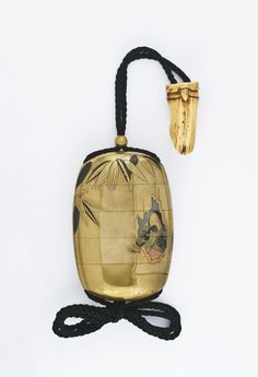 Zeshin A four-case gold lacquer inrō decorated in hiramaki-e and takamaki-e with Kaguyahime from Taketori monogatari (The Tale of the Bamboo...