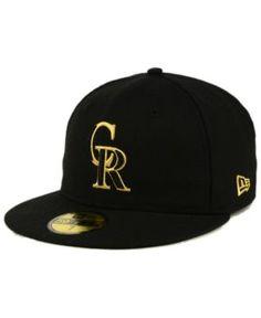 New Era Colorado Rockies Black On Metallic Gold 59FIFTY Fitted Cap - Black 7 5/8