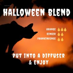 Get the Halloween buzz going with this aroma-blend.