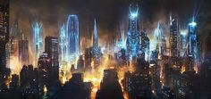 "100 Imaginative ""Cities Of The Future"" Artworks - Hongkiat"