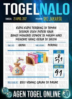 Angka Ikut 4D Togel Wap Online TogelNalo DKI Jakarta 21 April 2017