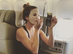 How to Wear a Sheet Mask on a Flight (