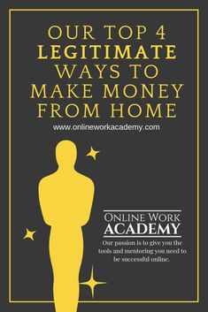 Top 4 Legitimate Ways to Make Money Online from Home Our passion is to help you find your best way t Make Easy Money, Make Money From Home, Make Money Online, Jobs For Former Teachers, Work From Home Jobs, Online Work, New Job, Things To Know, Free Money