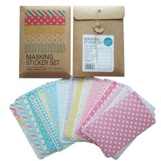 Amazon.com: Wrapables® Decorative Patterns Masking Sticker Set - Pastel