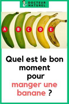 Quel est le bon moment pour manger une banane ? #banane #santé #remede #naturel #maladie