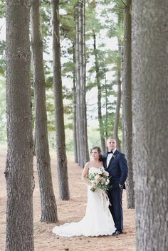 Oakhurst Country Club Wedding. Dramatic, modern, editorial and romantic bride and groom portraits in dreamy light of the pine trees . Black Tie Country Club Wedding . Kari Dawson Photography