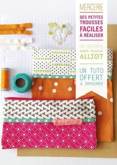 tuto DIY couture trousse pochette Plus Sewing Kit, Sewing Hacks, Sewing Tutorials, Sewing Patterns, Baby Couture, Couture Sewing, Diy Couture Trousse, Diy Trousse, Tutorial Diy