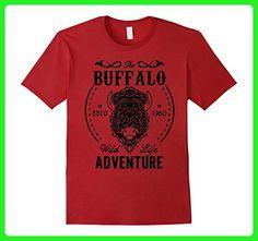 Mens Buffalo 3XL Cranberry - Animal shirts (*Amazon Partner-Link)