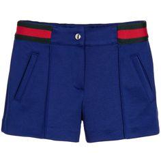 Gucci - Girls Blue Jersey Shorts   Childrensalon