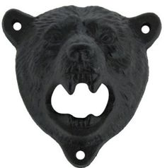 """#awesome Come with 3pcs black screws. #Black #Cast Iron Grizzly Bear Bottle Cap Opener Measures Apx. 4 1/4"""" tall by 2 1/2"""" wide Grizzly Bear bottle opener mounts ..."""