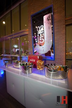Lovely set up for drinks at a Bar Mitzvah http://550events.com/