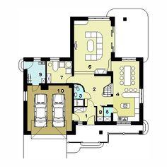Projekt domu jednorodzinnego HG-I5 (DZ32)   wybieramprojekt.pl Floor Plans, Two Story Houses, Floor Plan Drawing, House Floor Plans