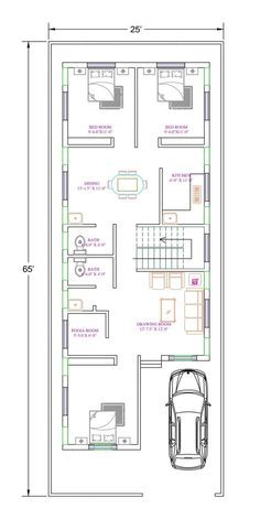 Beautiful House Plans, Beautiful Homes, Most Beautiful, 2bhk House Plan, Tiny House, Floor Plans, Flooring, How To Plan, Beauty Tips