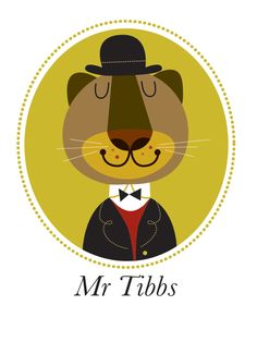 Paw-trait of Mr. Tibbs by Sean Sims