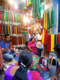 Mallas - Beads market in Asan Kathmandu by Manue