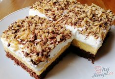 Czech Desserts, Sweet Desserts, Low Carb Recipes, Cooking Recipes, Cake Recipes, Dessert Recipes, Kolaci I Torte, Southern Dishes, Czech Recipes