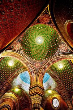 omg... Humans really can make some amazingly beautiful stuff when we put our minds to it. -- Spanish Synagogue, Prague, Czech Republic