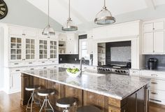 Kitchen in a transformed ranch house in Pittsford. Photo by Matt Wittmeyer for Rochester Magazine. www.RochMagazine.com