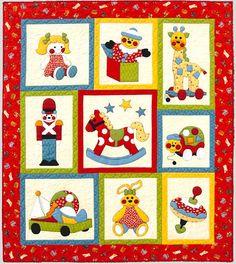 Ye Olde Toy Shop Applique Quilt Pattern by por BeaverheadSupplies