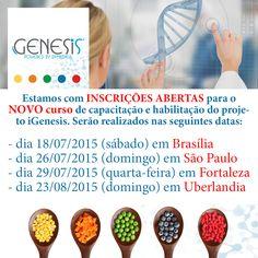 iGenesis: a nova era da nutrição personalizada no Brasil. Inscrições abertas! Curso de capacitação e habilitação do projeto iGenesis. Para mais informações www.dfmedica.com.br/cursos