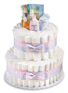 Diaper Cake Tutorial Baby Shower Games Pinterest