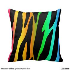 Rainbow Zebra Pillows