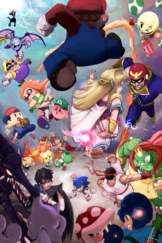 Welcome to the countdown page for Super Smash Bros. Super Mario Bros, Nintendo Super Smash Bros, Nintendo Characters, Video Game Characters, Dbz, Super Smash Ultimate, Otaku, Videogames, Nintendo Sega