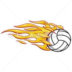 sports clipart image of flaming volleyball graphic on fire with face rh pinterest com Flaming Baseball Clip Art Volleyball with Flames