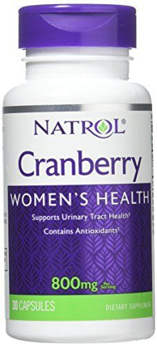 Cranberry has been shown in clinical trials to help maintain a healthy urinary tract by promoting an environment supportive to bladder and urethra health. Natrol offers 400 mg of Cranberry Extract in Easy-to-Swallow capsules. Helps maintain healthy urinary tract and bladder. Natrol makes this... more details at http://supplements.occupationalhealthandsafetyprofessionals.com/herbal-supplements/cranberry/product-review-for-natrol-cranberry-capsules-800mg-30-count/