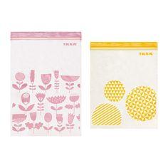 IKEA Istad auto-adhésive Ziplock Plastique Sandwich Congélateur Sacs 50 Medium