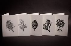 Hand Printed Lino Cut Card Collection