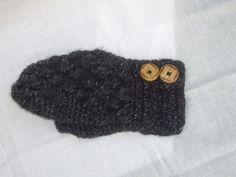 Custom Crochet Mittens with Button Wrist Closure