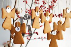Gingerbread Advent Calendar. Count down with a cookie every day :)