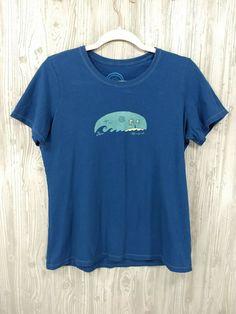 Life Is Good Beach Surf Graphic T-shirt Women Medium Summer Vacation   affilink e158f40ed
