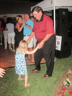 Granddaddy & Aven having a dance downtown Smithfield during the Olden days last year!!