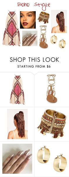 """Boho Style 1"" by bdouglas018 ❤ liked on Polyvore featuring MINKPINK, Steve Madden and Missguided"