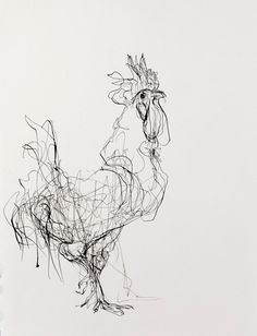 Ink on Paper | Rooster (Facing Right)                                                                                                                                                                                 More
